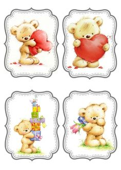 Marina Fedotova Cute Images, Cute Pictures, Etiquette Vintage, Baby Clip Art, Cute Teddy Bears, Tatty Teddy, 3d Cards, Baby Cards, Cute Drawings