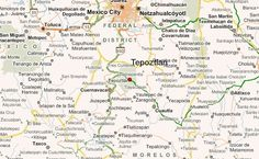 Here you can see where Tepotzlan is.  This is where I bought my little rain stick.  Sooo wish I had bought one of the huge ones that were like 4 ft tall.  I didn't know how in the world I would get that back on the plane though.  You can also see Cuernavaca, D.F., & Taxco.