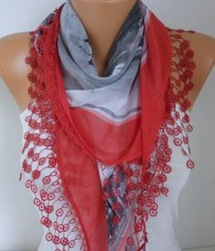 #Scarf Valentine's Day Gift Shawl by fatwoman