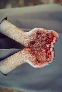 Henna Mehndi - beautiful focus here