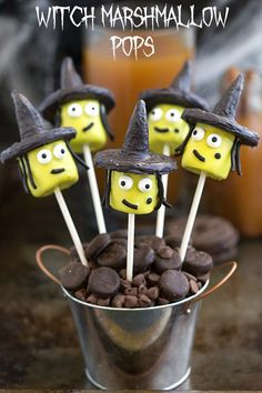 Witch Marshmallow Pops