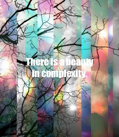 There is a beauty in complexity. INTJ
