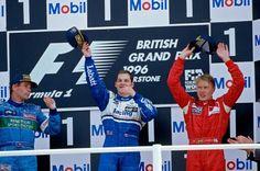 Berger, Villeneuve & Hakkinen 1996 F1 British Grand Prix