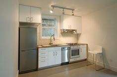 Kitchenette in Twin Studios Duplex Conversion
