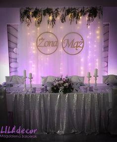 Ścianka kurtyna ledowa Wedding Book, Wedding Table, Diy Wedding, Rustic Wedding, Wedding Venues, Indian Wedding Decorations, Bridezilla, Sweetheart Table, Weeding