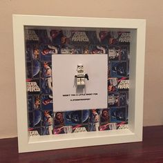A geeky gift for him or her ~ A perfect gift for any Star Wars fan or your loved one! This frame contains a Star Wars minifigures of a Stormtrooper