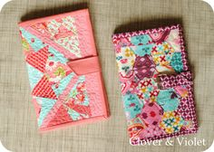 Quilted fabric cover to make for a Kindle...maybe adapt it for an iPad Mini?