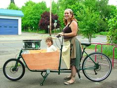 for carrying multiple non-pedaling kids (add a trail-a-bike and a burly off the back, and you can bike with the whole neighborhood!)