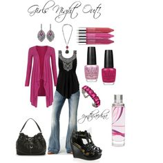 Girls Night Out!, created by cynthiaedina on Polyvore