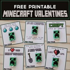 Minecraft Valentines. I was also thinking you could make a little magnet with melty beads if you were looking for an alternative to candy.