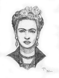 Photo Diego Rivera, Drawing Sketches, Pencil Drawings, Art Drawings, Pencil Portrait, Portrait Art, Fridah Kahlo, Mexican Artwork, Frida Kahlo Portraits