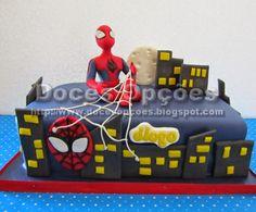 Doces Opções: Bolo com o Homem Aranha para o aniversário do Diog...