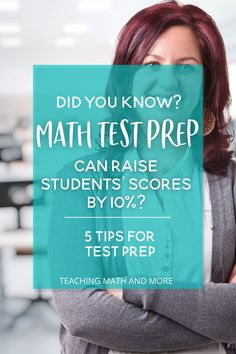 Math Test Prep for students is key. Did you know you can raise your students' test scores by studying and practicing what's important ahead of time. Try these 5 tips for making the most of Math Test Prep practice with your kids now. 7th Grade Classroom, 7th Grade Math, Math Skills, Math Lessons, Math Worksheets, Math Activities, Teaching Positions, Math Lesson Plans, Math Test