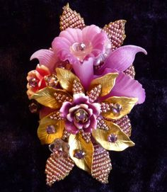 Huge, Gorgeous Orchid Brooch by Ian St. Gielar – Stanley Hagler