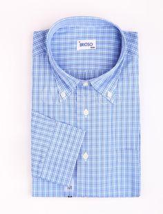 Casual Light Blue 100% Cotton Mens Long Sleeves Shirt - Milanoo.com