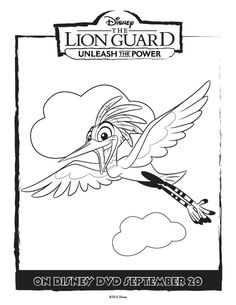 Unleash the Power with these great The Lion Guard coloring pages and activity page. Full size free printable coloring pages for tons of fun and creativity. The Lion Guard Coloring Page Ono