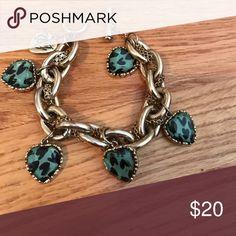 Betsey Johnson bracelet with blue hearts Betsey Johnson bracelet with blue hearts Betsey Johnson Jewelry Bracelets