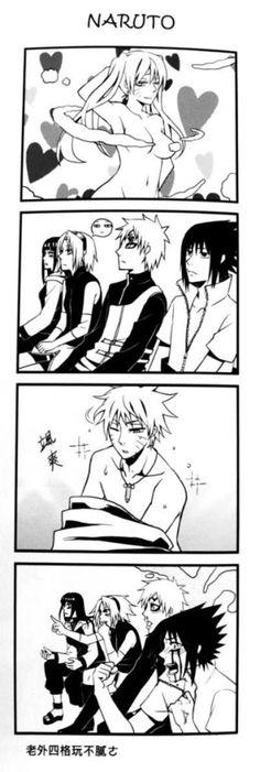 Naruto And Sasuke Kiss, Naruto Sasuke Sakura, Naruto Uzumaki Shippuden, Naruto Cute, Naruto Shippuden Sasuke, Narusasu, Sasunaru, Comic Naruto, Funny Naruto Memes