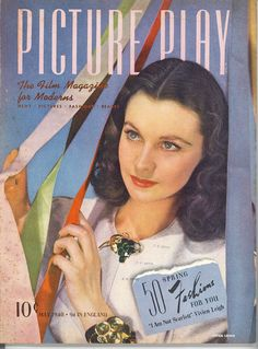 """Picture Play 1940, England featured Article on Vivien Leigh --""""I am Not Scarlett"""""""