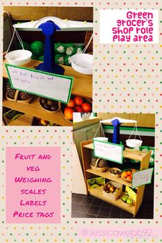 Green grocer's role play area
