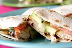 chicken, avacado, and tomato quesadillas