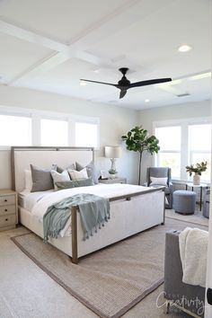 Millhaven Homes: Parade Home Tour Bedroom wall color is Sherwin Williams Drift of Mist Best Bedroom Colors, Bedroom Paint Colors, Warm Grey Walls, Building A New Home, Minimalist Bedroom, Decoration, Bedroom Decor, Bedroom Ideas, New Homes