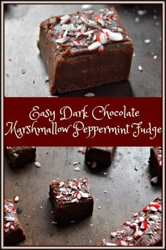 Nothing beats the minty freshness of this Easy Dark Chocolate Marshmallow Peppermint Fudge, especially with a glass of milk!