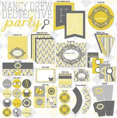 Nancy Drew Detective PRINTABLE Party Collection by Love The Day