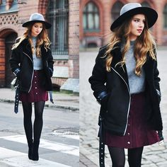 Stay warm and wear skirt !   LOOKBOOK.nu   Bloglovin'