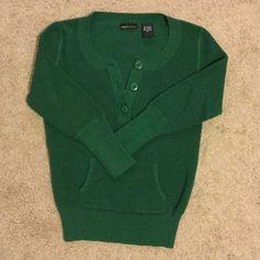SALE! Green 3/4 length Moda International Sweater Never been worn! Moda International medium sweater in new condition. Moda International Sweaters Crew & Scoop Necks