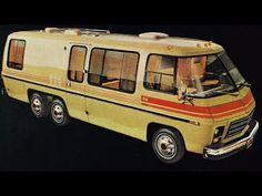 GM shocked the world for the 1973 model year with the debut of the beautiful GMC MotorHome. The GMC MotorHome was an engineering wonder that was de. Camper Caravan, Camper Trailers, Camper Van, Vintage Rv, Vintage Trailers, Vintage Campers, Pontiac Gto, Chevrolet Corvette, Station Wagon
