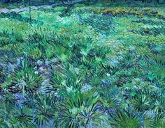 VINCENT VAN GOGH (Dutch): Long Grass with Butterflies, 1890. National Gallery, London. Van Gogh was a patient at the asylum at St-Rémy, near Arles, from May 1889 to May 1890. During this time he was restricted to working in the asylum's grounds, and shortly after his arrival he described the 'abandoned gardens' in which 'the grass grows tall and unkempt, mixed with all kinds of weeds'. This view of these gardens was painted at the end of the painter's stay at the asylum.