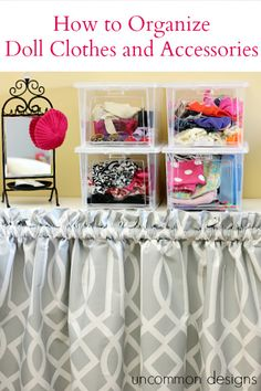 Learn how to organize doll clothes and accessories using Rubbermaid's All Access Organizers available at Home Depot.