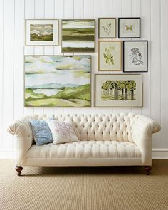 Tufted Sofa | Gallery Wall
