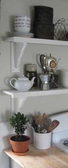 DIY Kitchen shelf idea