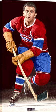 Frameworth Sports Maurice Richard - Hhof Canvas Canadians Posed On Ice Multi Montreal Canadiens, Hockey Puck, Ice Hockey, Maurice Richard, Hockey Pictures, Hockey World, Star Wars, O Canada, Hockey Cards