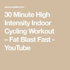 This session is designed to kick-start your metabolism through a series of short, high intensity intervals. Bike Indoor, Indoor Cycling, Cycling Workout, Interval Training, You Youtube, Fat, Fitness, Interval Workouts, Keep Fit