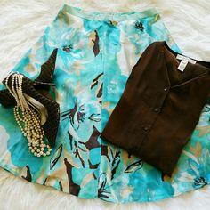 Spotted while shopping on Poshmark: SALE Banana Republic Blue Silk Skirt! #poshmark #fashion #shopping #style #Banana Republic #Dresses & Skirts