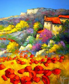 Roger Keiflin Naive Art, French Artists, Art Google, Painting Techniques, Art Oil, Les Oeuvres, Landscape Paintings, Wall Decor, Watercolor