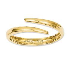 Yellow Gold Polished Bypass Ring, Size Jewelry Rings for Women Gold Jewelry, Fine Jewelry, Jewellery, Gold Stock, Bypass Ring, Kay Jewelers, Gold Polish, Rings For Her, Yellow Gold Rings