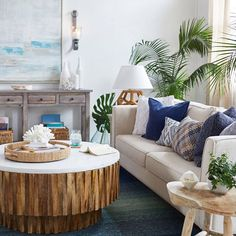 Longing for blue skies and summer vibes? Bring the calming effect of the coast to you with water colors, crisp white and soft textures. #MakeHomeYours