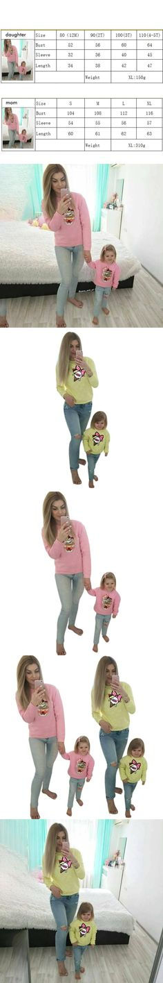 Autumn Winter Family Matching Outfits Mother and Daughter Clothes Printed shirt Mom Son Matching Sporting Clothes Tops Shirt Bab