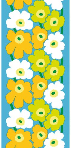 Maija Isola's classic pattern was born in 1964 shortly after Armi Ratia had announced that Marimekko would never print a floral pattern. Maija paid no heed to Armi's decree and designed an entire collection of floral patterns in protest. One of them was Unikko, a true icon.