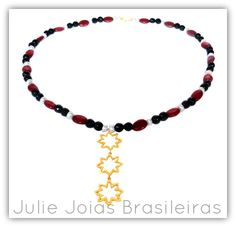 Colar longo em ouro 750/18k, pérola, jade e ônix (long 750/18k gold necklace with pearl, jade and onyx)