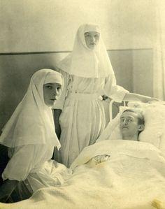 Olga and Tatiana as nurses