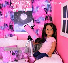 Sami Says AG- American Girl Doll House Bedroom- Luciana Vega- Space Galaxy Roo. Sami Says AG- American Girl Doll House Bedroom- Luciana Vega- Space Galaxy Room.