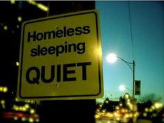 Wouldn't this be nice? In my work with those experiencing homelessness, 100% suffer from chronic sleep deprivation. Certainly, that only complicates everything else they're going through.