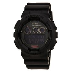 Casio GD120MB-1 Men's G-Shock Digital Black Dial Black Resin Strap World Time Dive Watch