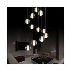 LEDペンダントライト シャンデリア 天井照明 円形 流星雨型 5灯/7灯/14灯