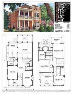 Classic Southern Home. Library w/ fireplace, and the window seat dining area in the kitchen. The family room is huge, with space for a second fireplace and built in bookshelves. The master bedroom upstairs is huge. Two other bedrooms and a large game room. Lots of porch areas. The wine room could be turned into a storage closet.